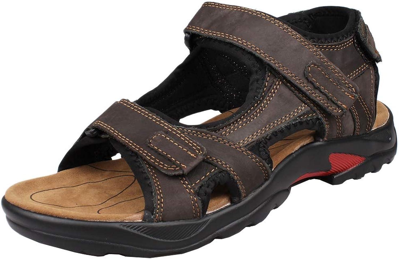 Kunsto herrar läder läder läder Athletic Sport Sandal Flats skor  Alla produkter får upp till 34% rabatt