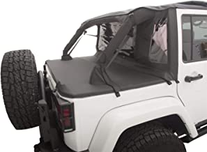 Rampage Products 990135 Black Trailview Soft Top with Tonneau Style Rear Cover for Jeep JK Unlimited 4-Door 2007-2017