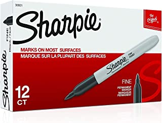 Sharpie Permanent Markers, Fine Point, Black, 30051 (72 Markers)