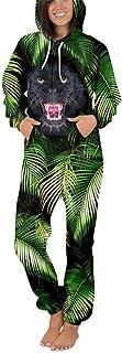 KIYOUMI Hombres 3D Imprimir Pijama de una Pieza con Capucha, de una Pieza Caliente del Mono con Capucha Adulto Otoño Pijam...
