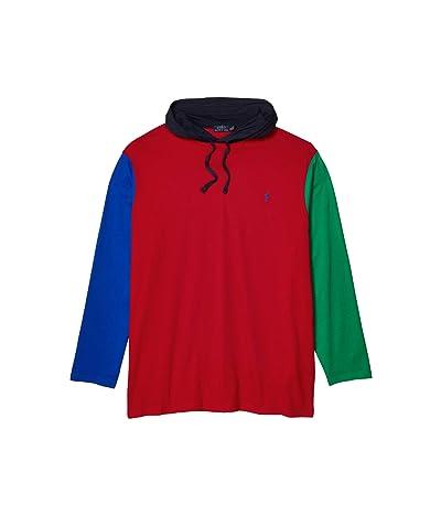 Polo Ralph Lauren Big & Tall Big Tall Long Sleeve Hooded T-Shirt (RL 2000 Red Multi) Men