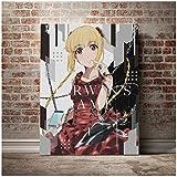 HJZBJZ Karino Shuka Darwins Spiel Anime Wandkunst Leinwand