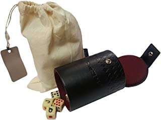 Marion Dice Cup with 5 Spanish Poker Dice - Cubilete con Cinco Dados