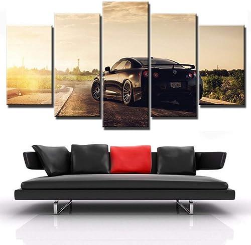 Ven a elegir tu propio estilo deportivo. YHEGV Impresiones En Lienzo Cartel de la Lona HD HD HD Impreso Arte de la Parojo Imágenes Dormitorio Marco 5 Unidades Flashy Sports Car Painting Modern Home Decor  barato y de alta calidad