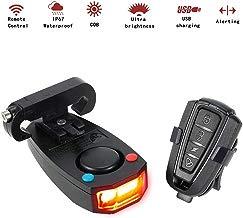 Docooler Inteligentes Anti-robo de la Bicicleta Luz Trasera Alarmante LED de Luz Estroboscópica de Advertencia Ciclismo Timbre Eléctrico con el Cable USB