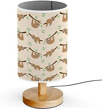 ARTSYLAMP - Wood Base Decoration Desk Table Bedside Light Lamp [ Cute Sloth Cartoon ]