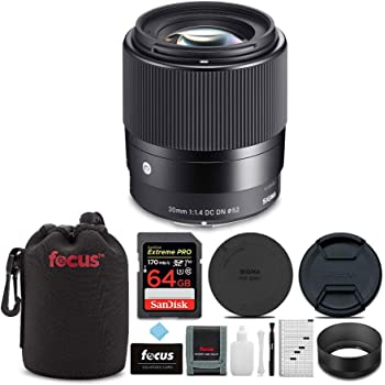 Lens Case Capleash Adorama Sigma 30mm f//1.4 DC DN Contemporary Lens for Sony E-Mount Cameras Cleaning Kit LensPen Lens Cleaner Bundle with 52mm UV Filter