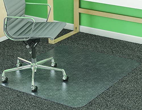 deflecto SuperMat Frequent Use Chair Mat Medium Pile Carpet Beveled 46 x 60 Clear product image