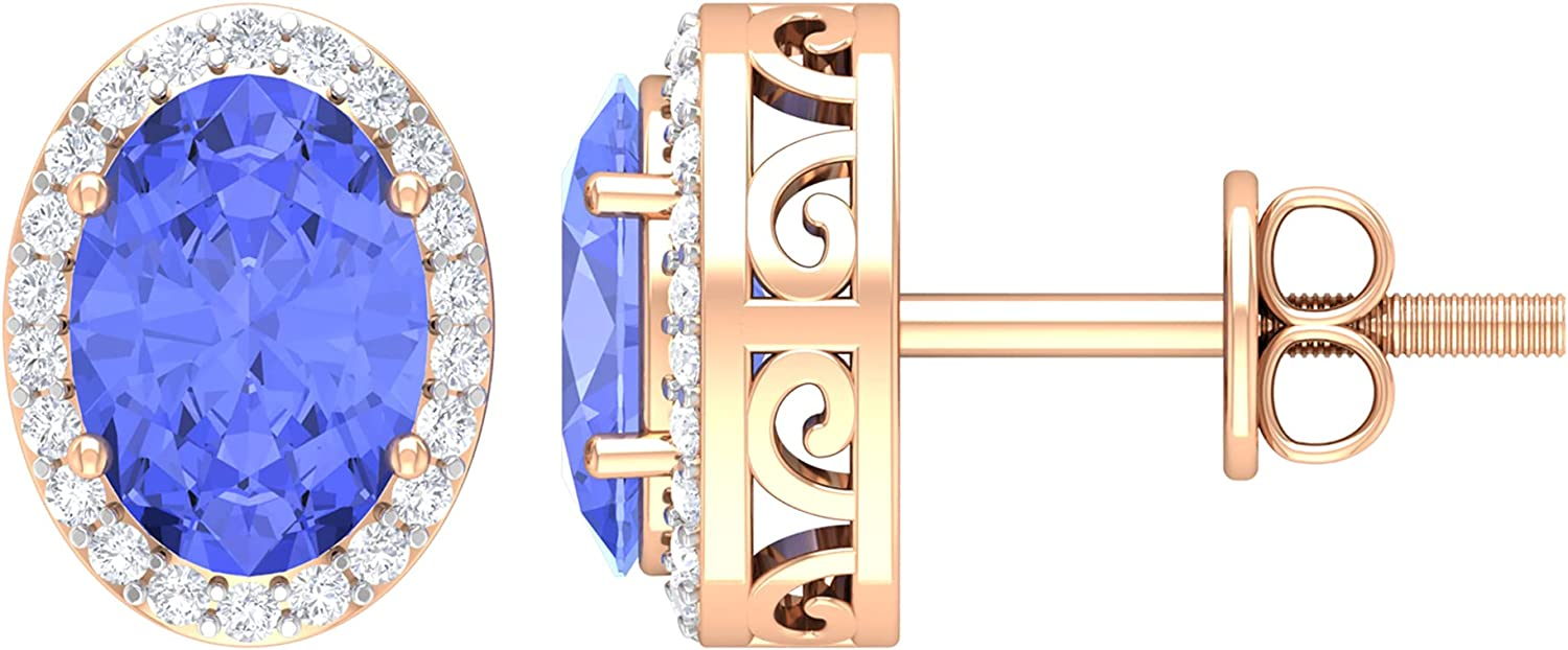 1.75 CT Oval Cut Tanzanite Earrings Kansas City Mall Stud Diamond Sale Special Price Solitaire with