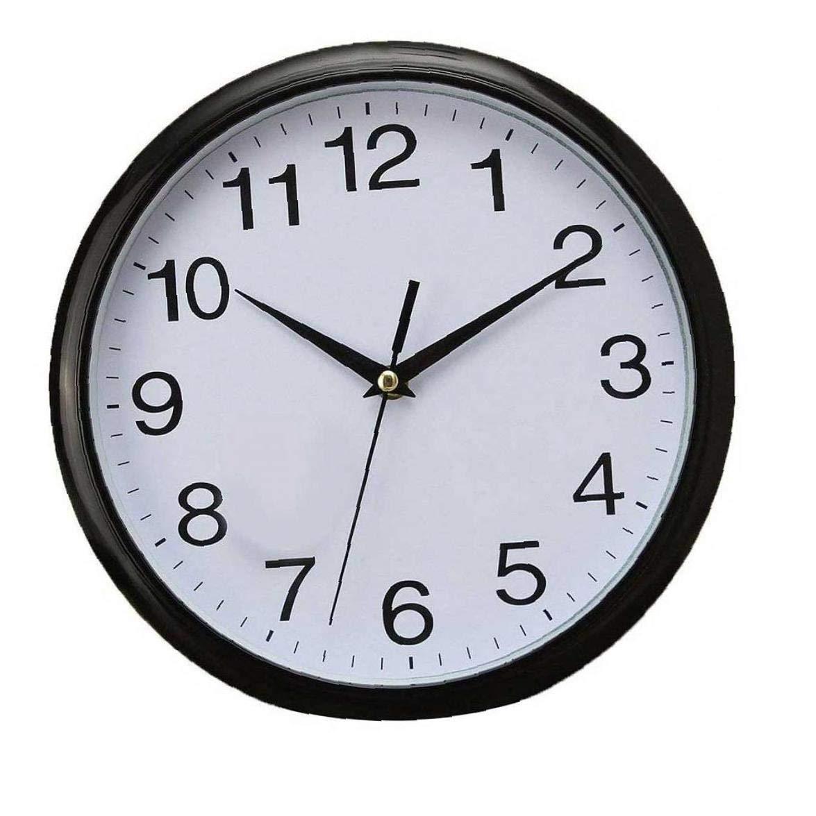 Silver Plastique Verre Unity Radcliffe Horloge Murale silencieuse Blanc 20 cm l x 20 cm w