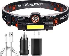 JSJJAUJ Hoofd Torch Mini inductie LED Koplamp Vissen Draagbare hoofd lamp zaklamp Koplamp zaklamp (Body Kleur: Hebben 1x18...