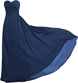 ca349838d7e7 ANTS Women's Strapless Long Bridesmaid Dresses Chiffon Wedding Prom Gown