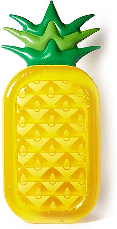 BDFA 70,8 inch Aufblasbare Pool Schwimmt Luftmatratze Strand Insel Flo Ananas Float Urlaub Outdoor Lounge Pool Spielzeug für Erwachsene & Kinder