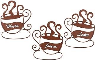 Metal Coffee Cup Wall Art, Set of 3