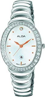 Alba Analog Watch for Women , Stainless Steel Band , AH7L45X1