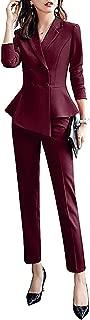 Women's 2 Pieces Office Blazer Suit Slim Fit Work Suits for Women Blazer Jacket,Pant/Skirt Suits