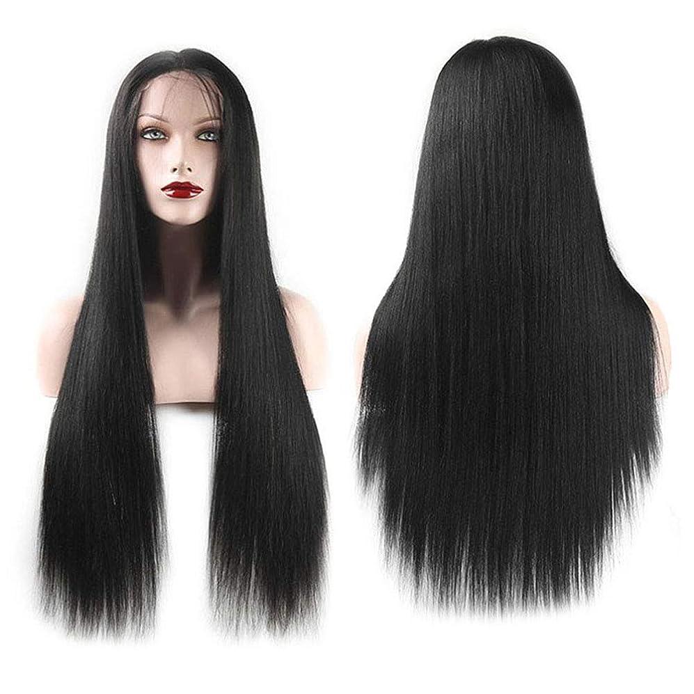 有能な定数振りかける女性ファッションロングストレートヘアウィッグ自然に見える絶妙な弾性ネットウィッグカバー(LS-001ブラック)
