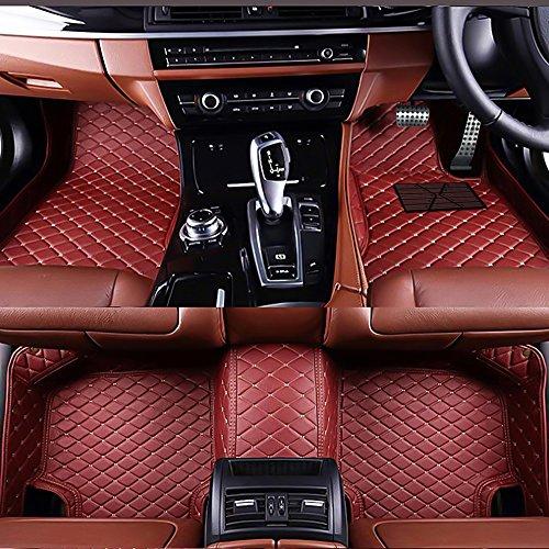 VEMAT 3D Auto Vloermatten Fit voor BŧW 3 Series GT F34 Hatchback 2013-2018 Wijn Rood