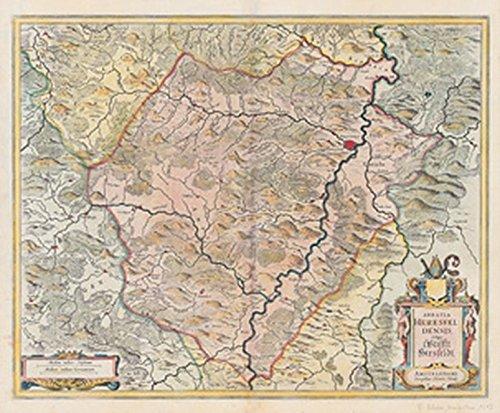 Historische Karte: Stift Hersfeld. 1635 - Abbatia Heresfeldensis vulgo Stifft Hirsfeldt. (Plano)