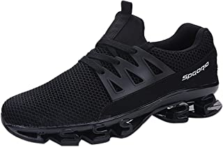 Mesh Lace Up Couple Mens Sports Blade Shoes Wear Resistant Non-Slip Light Running Shoes