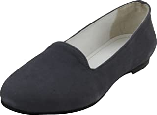 Salt N Pepper Professional Formal Wear 100% Pure Leather Suede Loafers for Women Girls
