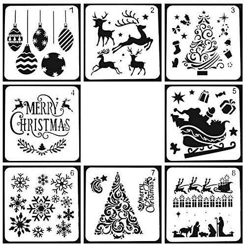 Aolvo Stencil Christmas Modello pittura per album stencil tattoo Per Disegno Scrittura e La Pittura Drawing Painting Template Sets DIY Albums Accessories