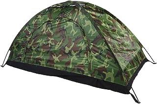 Focket Utomhustält, kamouflage UV-skydd vattentätt tält för en person med en bärförvaringsväska, bärbar och lätt för stran...