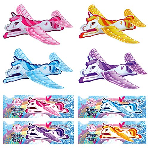 Henbrandt 24 x Unicorn Gliders Perfect For Kids/Girls Party Loot Goody Bags...