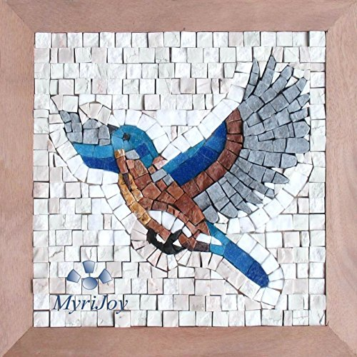 Kit mosaico artistico Prendi il Volo - Idea Regalo Originale - Kit arte fai da te per adulti - Tessere di mosaico in marmi di origine Italiana e vetri di Murano - Puzzle diverso
