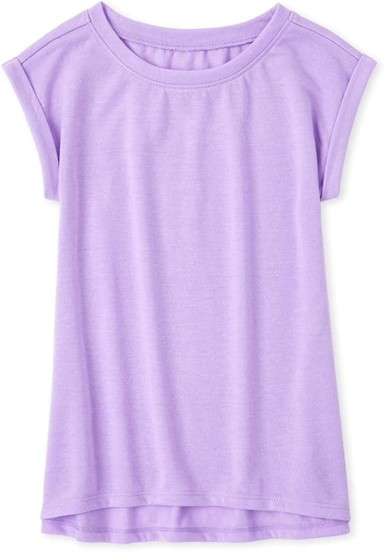 The Children's Place Girls' Solid Short Sleeve Pajama Shirt