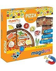 magdum Pizza, żywność, zestaw fotograficzny, zabawka kuchenna, 48 magnesów na lodówkę, dla dzieci, do zabawy, jako prezent dla chłopców, dziewczynek, chłopców, pedagogiczna zabawka magnetyczna