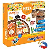 Magdum Pizza de Madera de Juguete 48 Nevera Juguete Grande - Pizza Juguete - Comida Juguete - Juguetes de Cocina para niños - Cocinitas de Madera - Cocina niños - Cocina Juguete Madera - Pizza Toy