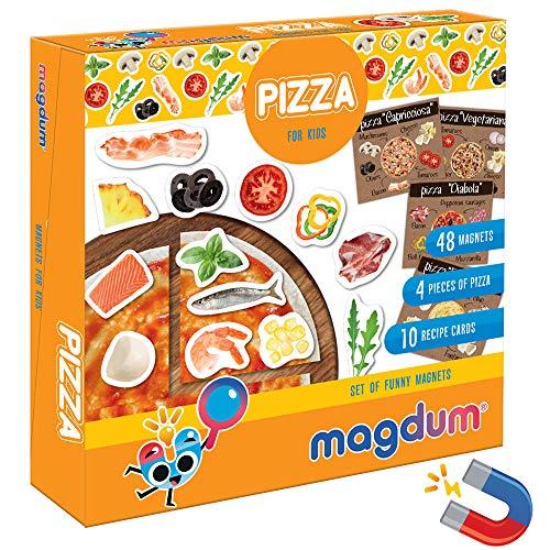 Magdum Pizza Bambini 48 Frigorifero Giocattolo - Gioco della Pizza - Pizza Grandi Giochi - Cibo Giocattolo per Bambini -Set Cucina Bambina-Gioco Magnetico Bambini-Cucina per Bambini-Pizza Giocattolo