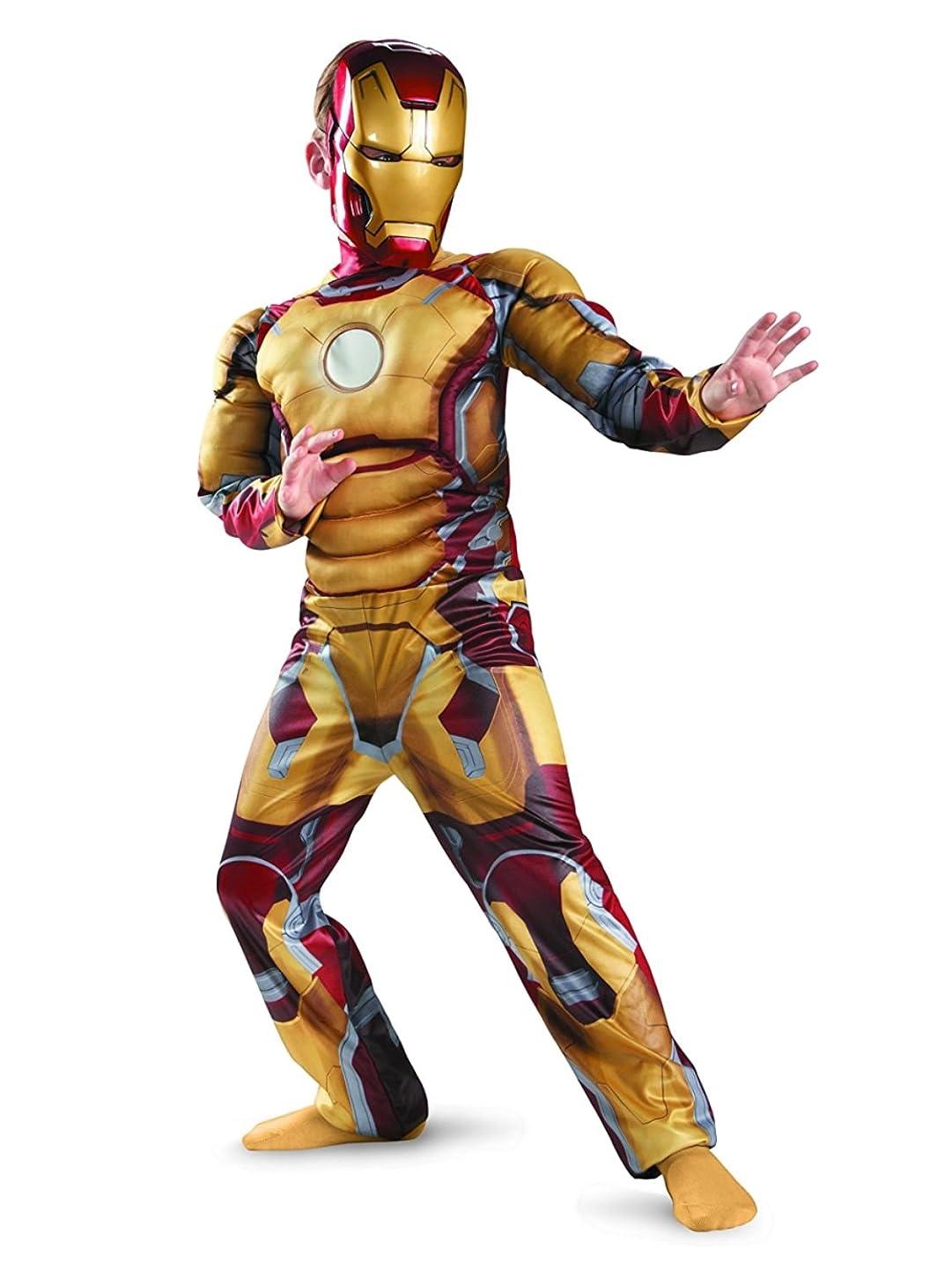 Iron Man 3 Mark 42 Boys Halloween Muscle Costume Small 4-6