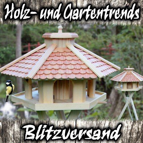 Vogelhaus Vogelhäuser-(V52)-Vogelfutterhaus Vogelhäuschen-aus Holz- -Lärche - 2