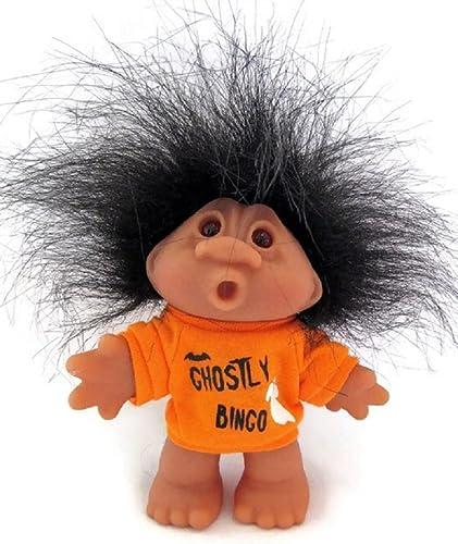 Ghostly Halloween Bingo Troll Doll Awesome schwarz Hair 5