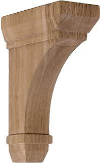 Ekena Millwork BKT02X05X07STRO  2 1/4-Inch W by 5-Inch D by 7-Inch H Stockport Bracket, Red Oak