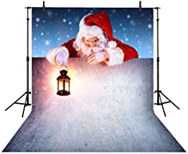 Allenjoy 5x7ft Santa Claus Christmas Photography Backdrop White Wall Snowflake Xmas Background Decoration for Kids Portrait Photo Studio Booth Photobooth Photographer Props