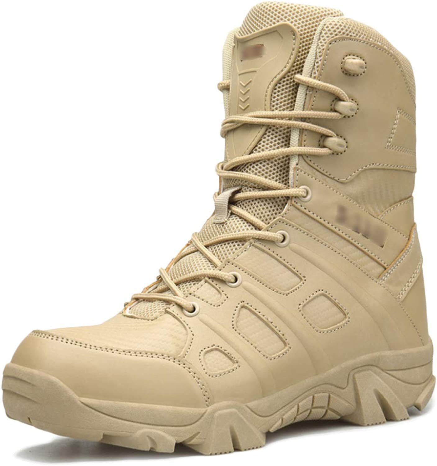 Mens Lace-ups Desert Combat Boots Outdoor Camping Climbing Army Tactical Boots Jungle Hiking High Top Patrol Boots shoes