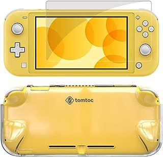 tomtoc Nintendo Switch Lite 対応 ケース セット 超薄カバー + 強力ガラスフィルム、任天堂スイッチライト 透明カバー、 液晶保護 全面保護 着脱簡単 衝撃吸収、透明
