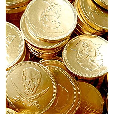 30 x gold foil pirates themed milk chocolate money coins loot 30 x Gold Foil Pirates Themed Milk Chocolate Money Coins Loot 61N GB6ESDL