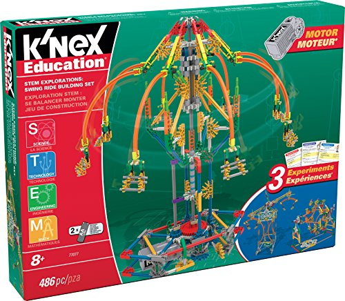K'Nex 77078 K'NEX STEM Explorations Swing Ride Building Set per età 8+ giocattolo...