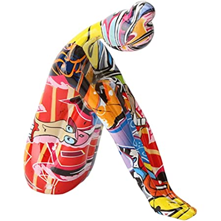 H HILABEE Résine Sculpture Abstraite Pièce D'accent, Moderne Méditation de Yoga Dame Objet de Décoration pour La Maison, Bureau, Table et de Bureau - Rouge