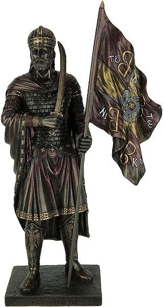 Resin Statues Byzantine Emporer Constantine Xi Palaiologos Bronze Finish Statue 6 25 X 12 X 3 5 Inches Bronze