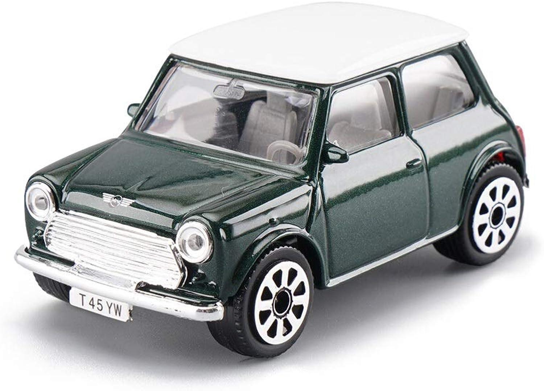 Lingling Alloy Car Model 1969 MINI Cooper Car Metal Car Diecasting Car Model Boy Birthday Gift (color   Green)