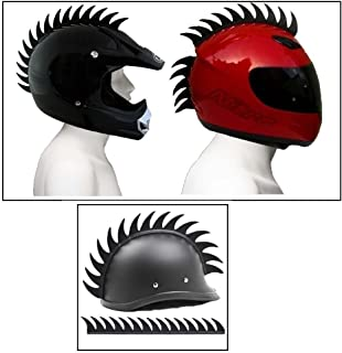 Delhi Traderss Cuttable Helmet Mohawk Helmet Spikes Bike Helmet Spikes for-Yamaha Rx 100