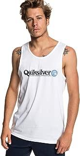 QUIKSILVER Erkek Tişört ARTTICKLETANK M TEES, Beyaz, XX-L (Üretici ölçüsü: XXL)