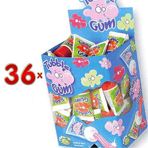 Lutti Tubble Gum Cherry 36 x 28g Packung (Kaugummi in der Tube mit Kirschgeschmack)