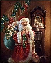 DIY 5D Diamond Painting Kit, Santa Claus Rhinestone Embroidery Cross Stitch Arts Craft for Christmas Canvas Wall Decor