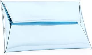 BYSUMMER MARKFRAN Metallic Envelope Clutch (Ice Blue)